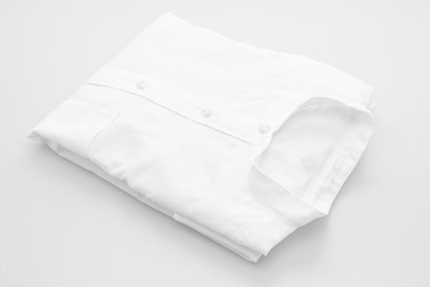 White shirt fold on white background