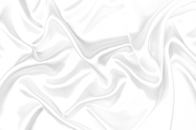 White silk texture luxurious satin for abstract background. beautiful white fabric