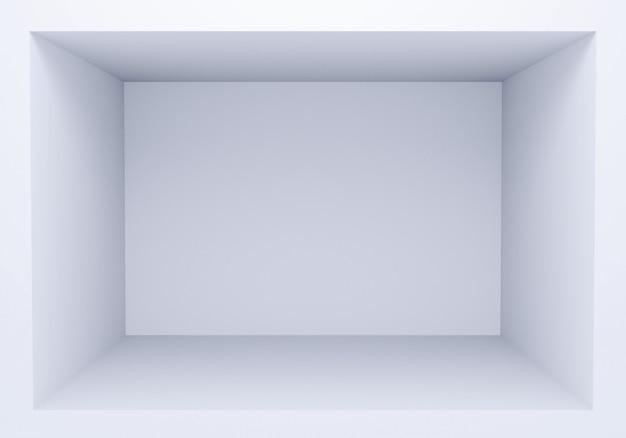 White simple empty box 3d render