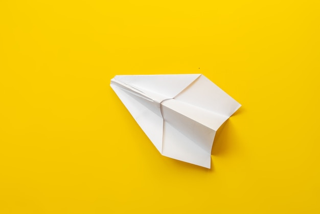 White simple origami paper plane