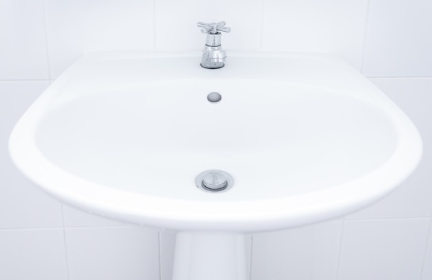 White sink ,washbasin sink in a bathroom