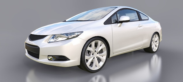 White small sports car coupe