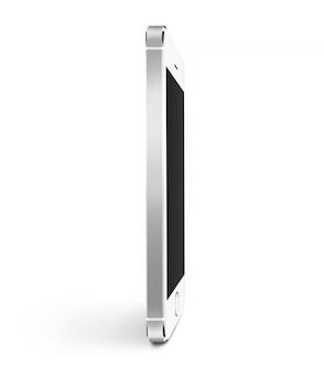 White smart phone blank screen  profile stand