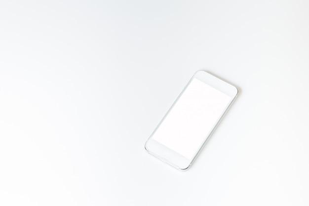 White smartphone mockup.
