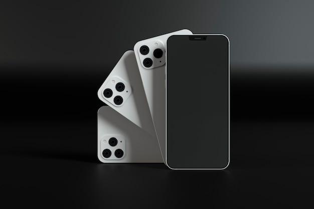 Белые дизайны смартфонов