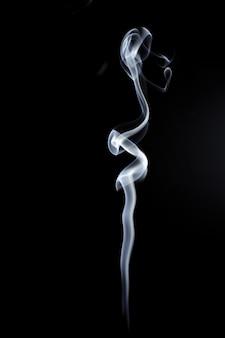 White smoke on black