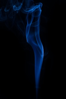White smoke collection on black background
