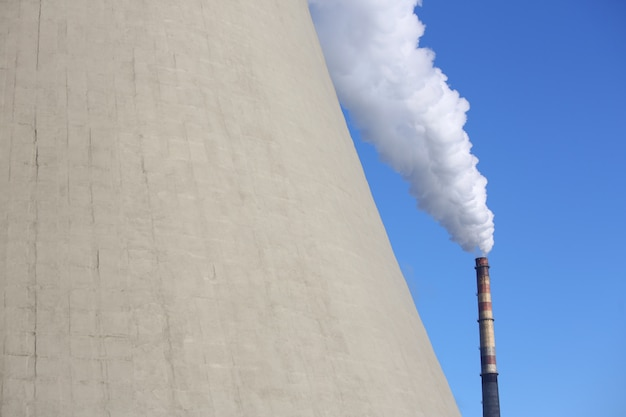 White smoke comes from the chimney