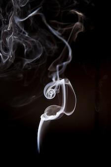 分離された白い煙