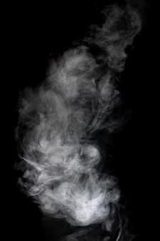 White smoke texture black background
