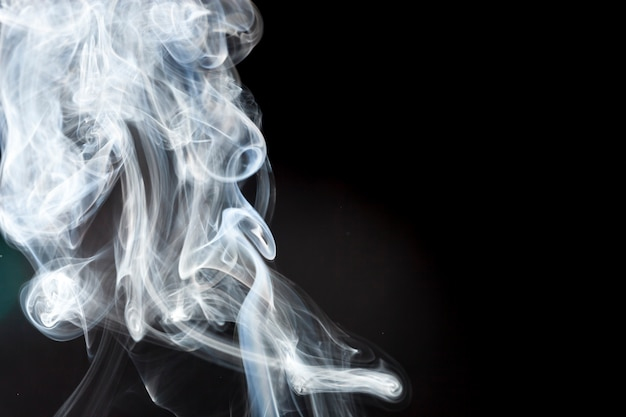 White smoke with abstract shape