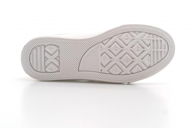 White sneakers on white
