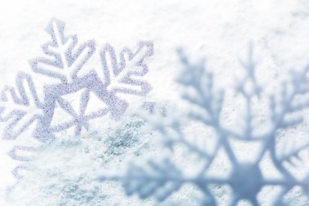 하얀 눈송이 휴일 장식 가까운 스튜디오 촬영