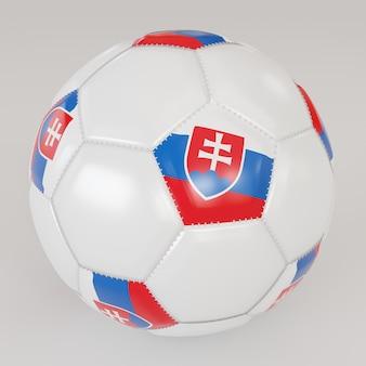 Белый носок мяч с флагом словакии на белом фоне