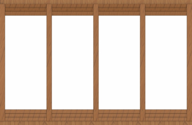 White space on brown wood panel wall background.