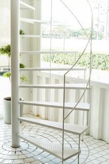 White spiral stair