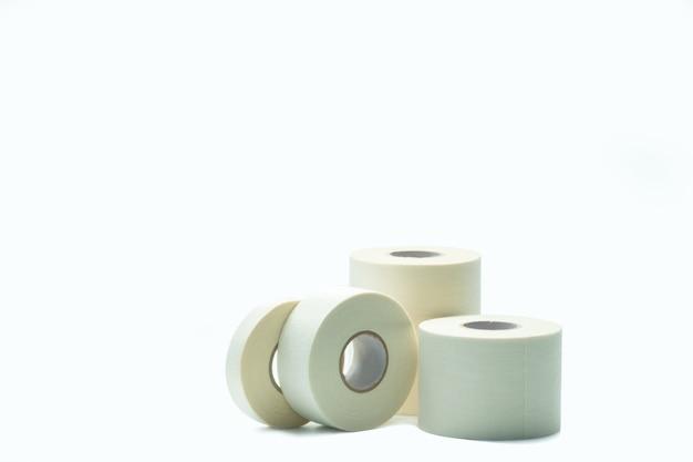 分離された白いスポーツテープ