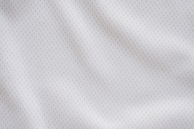 White sporting fabric with air mesh texture