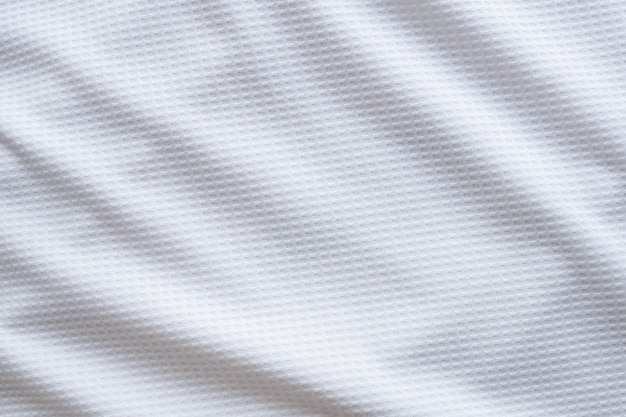 White sports clothing fabric football shirt jersey texture abstract background