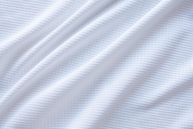 Белая спортивная одежда ткань футбольная рубашка трикотаж текстуры абстрактный фон