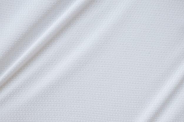 白いスポーツ服生地サッカーシャツジャージーテクスチャ背景