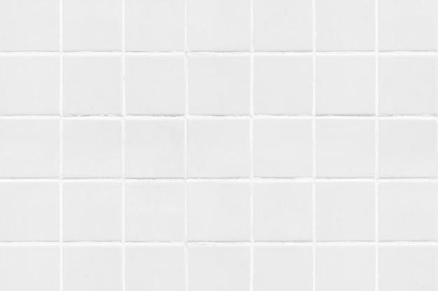 Fondo di struttura piastrellato quadrato bianco