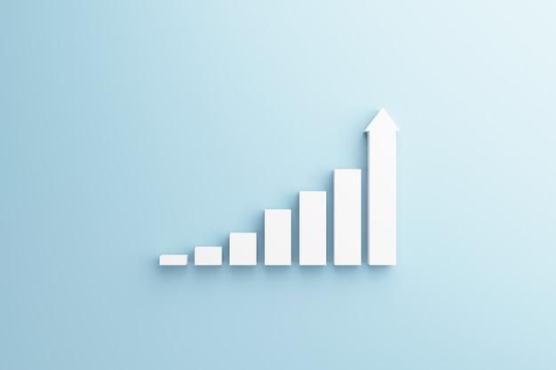 Белая ступенька к успеху роста. Premium Фотографии