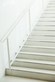 White stairs unfocused