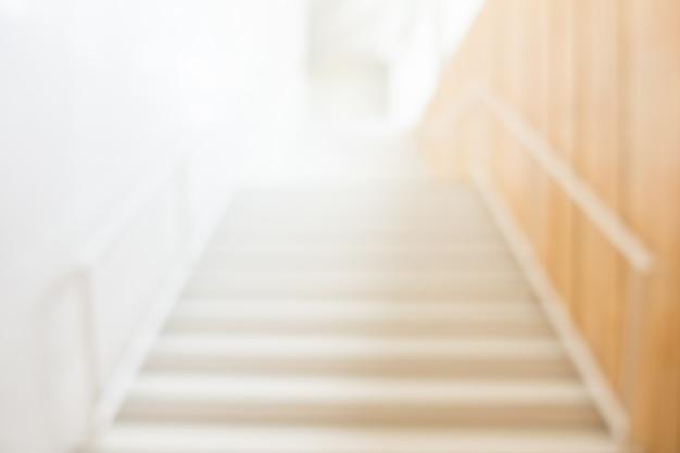 White stairs unfocused