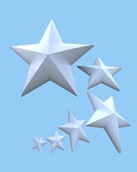 青い背景の上の白い星
