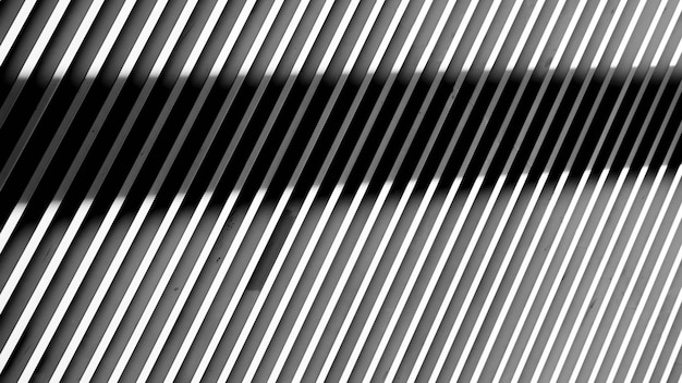 White steel battens wall background with light and shadows. - monochrome