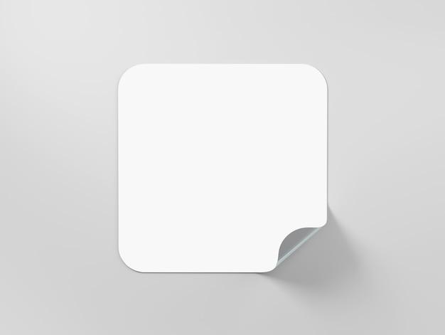 白いステッカーラベル