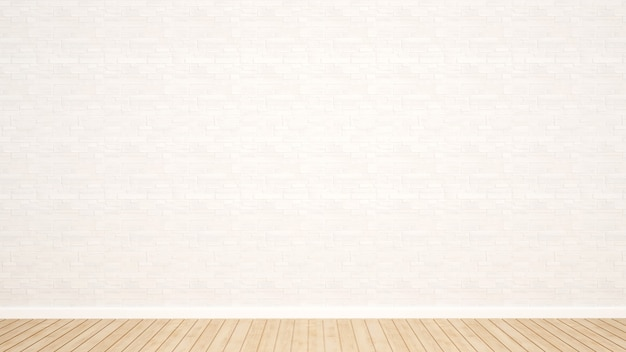 White stone wall decoration in empty room for apartment