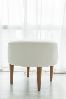 White stool chair