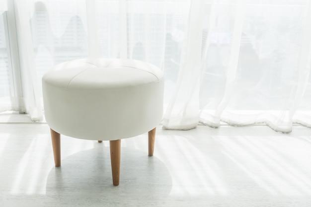 White stool chair