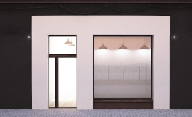 White storefront