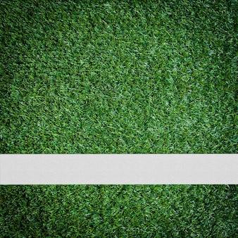 緑色のサッカー場の上にホワイトストライプ