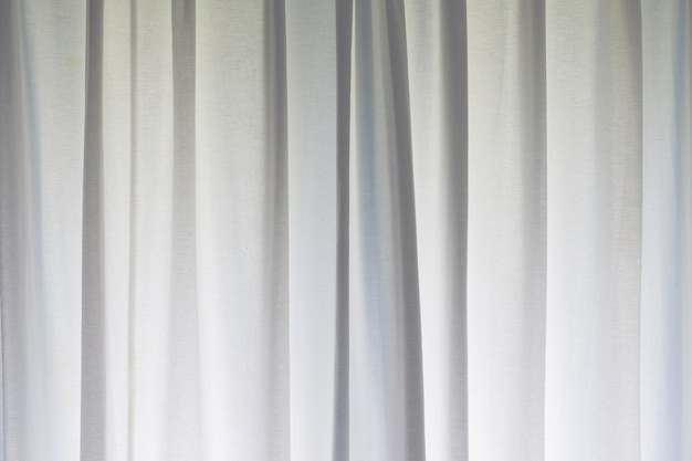 White striped curtain background on window