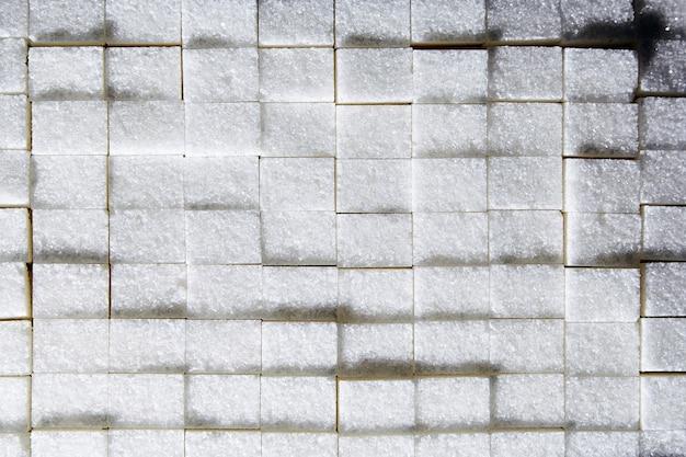 Фон кубики белого сахара