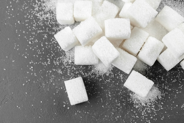 White sugar cubes close up