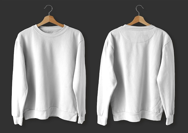 White sweater front and back