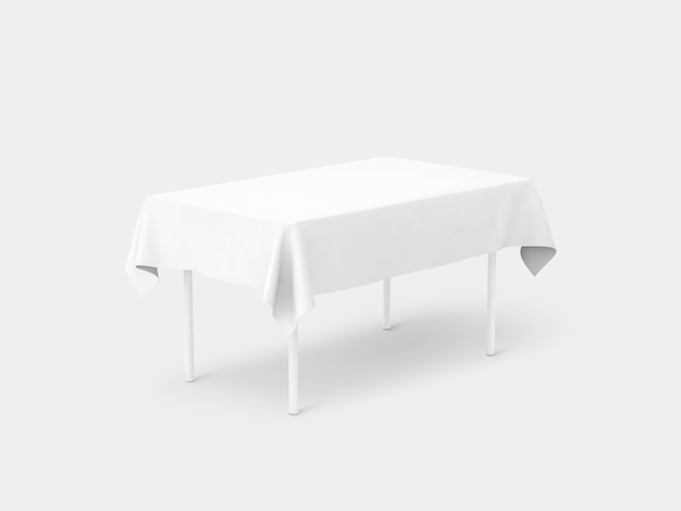 White tablecloth on a table