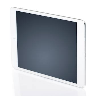 White tablet with black screen