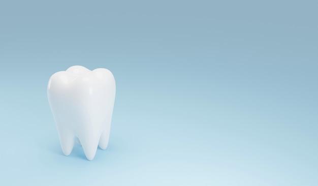 Белые зубы на синем фоне