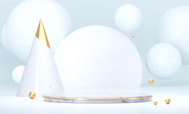 白いテンプレート製品ステージ現在の背景、空の表彰台