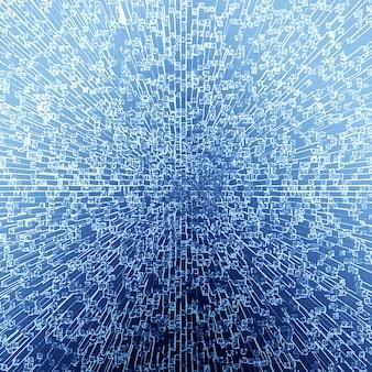 White texture in a blue backgrund