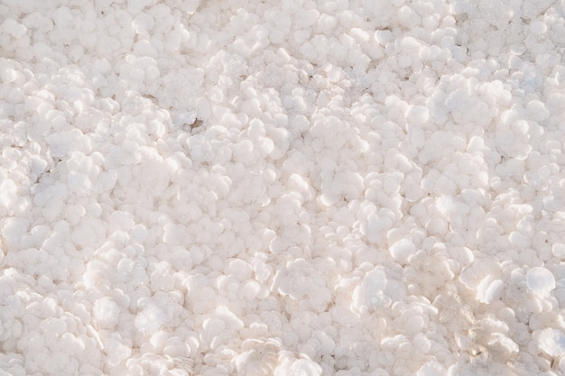 White texture of large flakes of salt