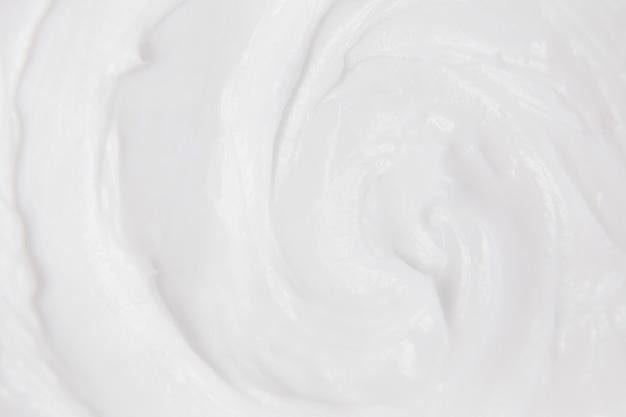 Белая текстура крема