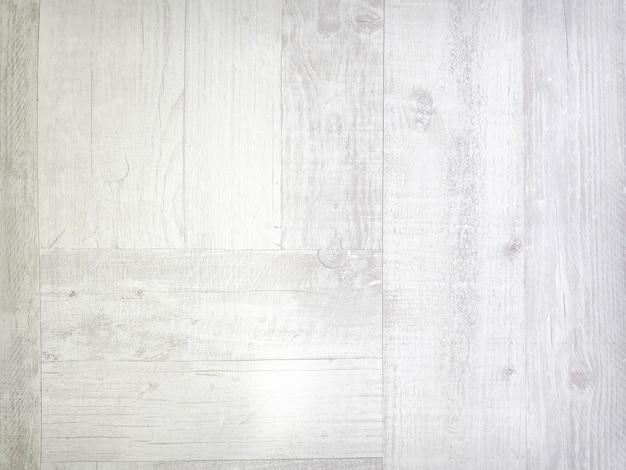 풍화된 나무 판자 바닥의 흰색 질감. 확대