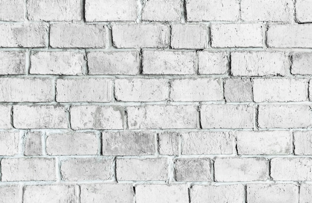 White textured brick wall background